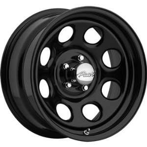 Pacer Soft 8 15x14 Black Wheel / Rim 6x5.5 with a  88mm Offset and a