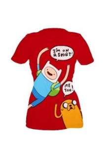 Adventure Time Finn And Jake On A Shirt Girls T Shirt