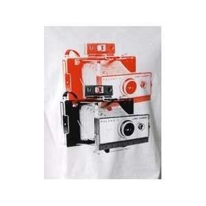 Vintage Polaroid Camera pop art T shirt (Mens Large