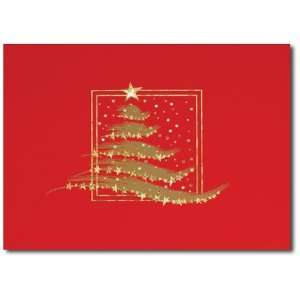 Birchcraf Sudios 0875 Sparkling Chrismas ree   Gold Lined Envelope
