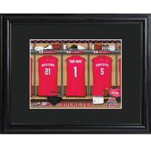 Ohio State Buckeyes Personalized College Basketball Locker Room Print