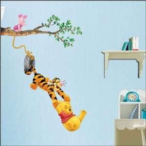Winnie the Pooh & Tigger Peel & Stick Kids Room Wall Art