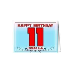 Happy Birthday 11 years old Card: Toys & Games