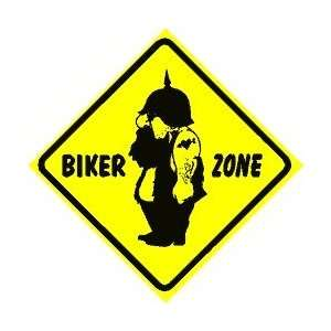 BIKER ZONE sign * street motorcycle gang:  Home & Kitchen