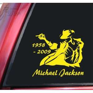 Michael Jackson 1958   2009 Vinyl Decal Sticker   Yellow
