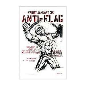 ANTI FLAG   Limited Edition Concert Poster   by Squad 19
