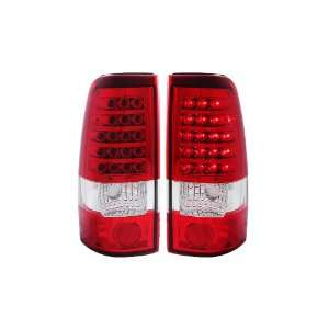 Anzo USA 311010 Chevrolet/GMC Red/Clear LED Tail Light