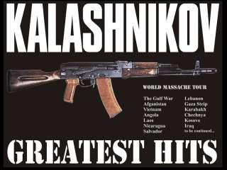RARE NEW RUSSIAN SOVIET T SHIRT AK 47 KALASHNIKOV GUN