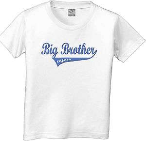 BIG BROTHER AGAIN SWOOSH sporty boys kids custom T Shirt white grey