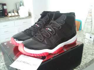 DS NIKE AIR JORDAN XI 11 BLACK RED BRED CDP RARE xii iv vi x  Air Jordan XV  ... eeb28a247