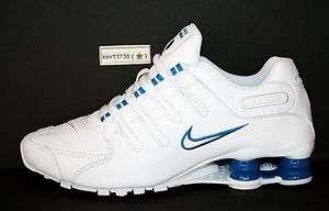 NZ # 378341 134 White Turbo Blue Men sz 7.5   13 (Guaranteed Original