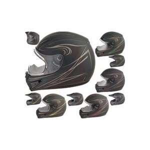 Gmax GM37S Derk Dual Sport Offroad MX Helmets Medium Black