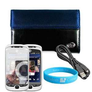 Black HTC MyTouch Slide 3G Two Tone Carrying Case + Data