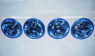 DIAMOND CRYSTAL CLEAR BLUE HEADLIGHT HEADLAMP 60/55W H4 BULBS SET