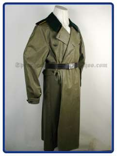WW2 German Fieldgrey Rubberized Motorcycle Coat L