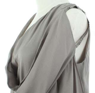 1810 SHARON WAUCHOB CHIC GREY SILK DRESS F36 NWT