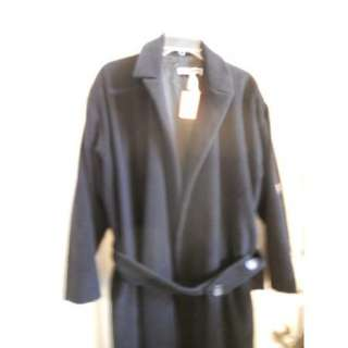 Jil Sander Sz 38 Blk Angora/Wool Long Designer Coat Gorgeous