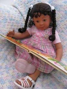 LIFELIKE SWEET BIRACIAL ETHNIC TODDLER BABY GIRL DOLL OOAK