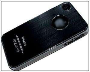 Deluxe Black Aluminum Chrome Hard Case Cover For iPhone 4S 4 4G Black