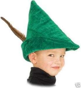 NEW Kids Green Peter Pan Robin Hood Hat elf costume