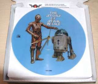 WARS PICTURE DISC story of star wars 12 LP Vinyl Record CLOCK