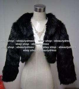 Black Faux Fur Bridal Wrap/Bridal Jacket/Shawl/Cape/Stole/Bolero/Throw