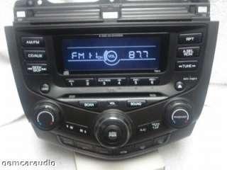 Honda Accord 6 Disc CD Changer Radio 7BK0 03 04 05