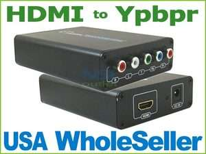 HDMI to 5 RCA Component Ypbpr AV Converter for PS3 DVD