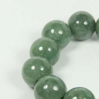 Certified Large Round 15mm Beads 7 Green Bracelet 100% A Untreated