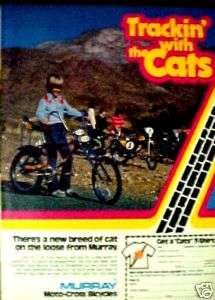 Murray (CATS) 1977 Moto Cross Bicycles Boys BMX Bike Ad