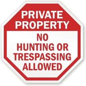 Private Property No Hunting Or Trespassing Allowed