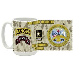 U.S. Army 75th Ranger Regiment Coffee Mug Kitchen