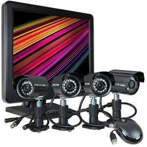 4 Channel Standalone DVR Surveillance Kit w/15 LCD & 4 IR