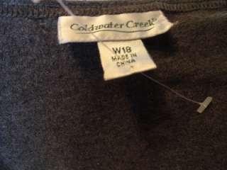 Womens dress COLDWATER CREEK Long Maxi dress Gray Plus Sz 18W 1X 2X
