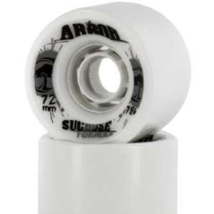Set Freeride Series Skateboard Wheels   White / 72mm   78a: Automotive