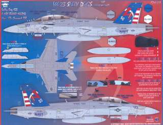 Fightertown Decals 1/48 F 18F TEST HORNET VX 23 SALTY DOGS
