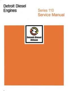 1938 2008 DETROIT DIESEL 110 Series Engine Shop Manual