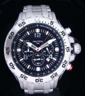 NAUTICA NEW MENS NST CHRONO/TACHY WATCH N19508G