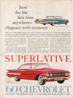 1960 Red Chevrolet Impala Sport Coupe Blue Sedan 50s Chevy Vintage Car