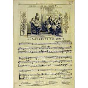 : 1857 English Songs Melodies Music Score Grief Song: Home & Kitchen
