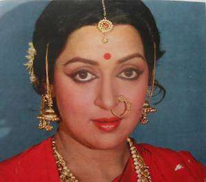 1970s Vintage Print Bollywood Actress Hema Malini