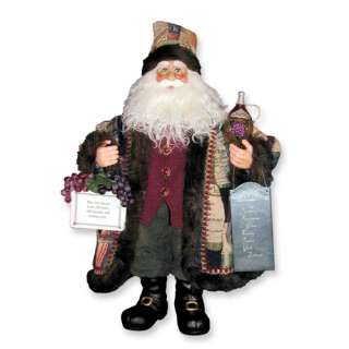 NEW in Box Karen Didion 20 Wine Santa Figurine