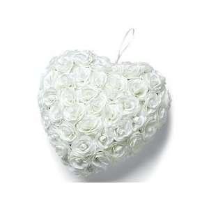 White Wilton Wedding Flowering Heart Wreath