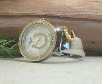HORSE & WESTERN LADIES WOMENS HORSESHOE CUFF WATCH SILVER & GOLD TONE
