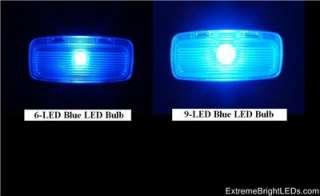 GREEN 9 LED Pkg 2 Door (5 bulbs) 1998~2002 Honda Accord