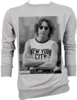 John Lennon NYC Beatles Vtg Retro Sweater Jacket S,M,L