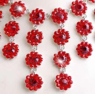 Necklace Earrings Set Flower Beads Tassels Golden/Silver Color Czech