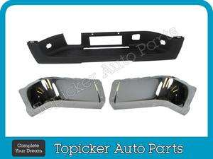2007 2012 CHEVY SILVERADO GMC SIERRA REAR BUMPER CAP CHROME CENTER PAD