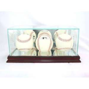 Baseball Display Case with Cherry Wood Molding