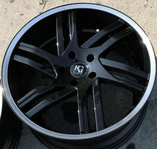 KOUTURE SPLINE 20 BLACK RIMS WHEELS HONDA ODYSSEY RIDGELINE